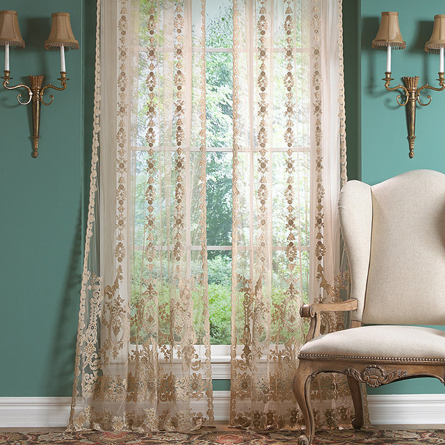 Lace Drapery 108 Quot Contemporary Curtains By Frontgate