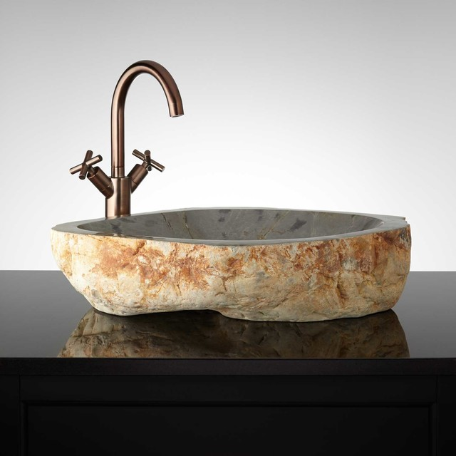 Jemison Natural Stone Vessel Sink Modern Bathroom Sinks By Signature Hardware