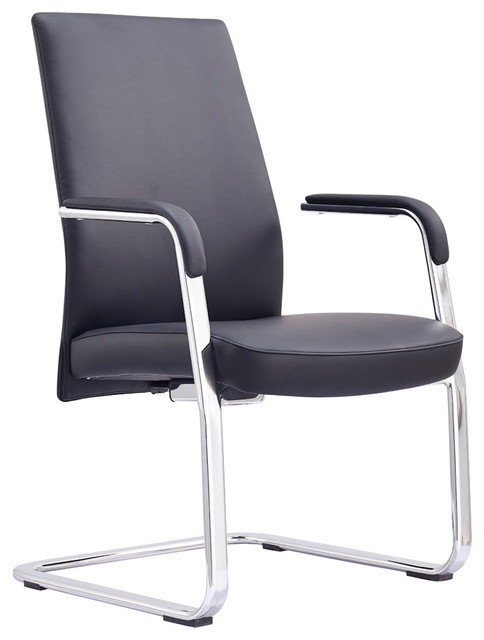 Columbia Faux Leather fice Chair Black Contemporary