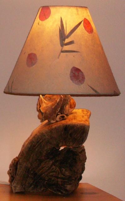 Driftwood table lamp lampe de bois flott ou bois de mer table lamps mo - Bois flotte montreal ...