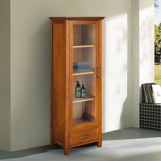 Chamberlain Linen Tower Storage Cabinet - Contemporary - Bathroom Cabinets And Shelves - by ...