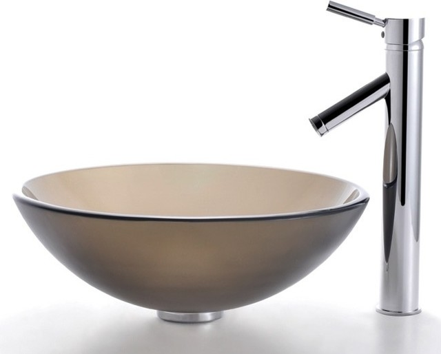 Brown Bathroom Sink : ... Sink and Sheven Faucet (Chrome) - Contemporary - Bathroom Sinks - by