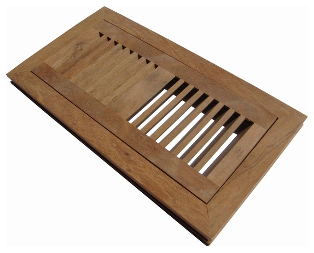 Flush mount wood floor vent register unfinished 2 39 39 x14 for Wood floor registers 6 x 14