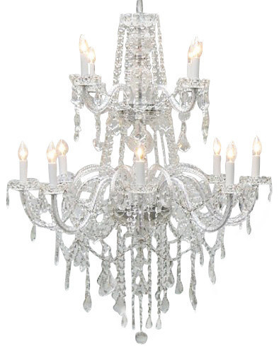 Authentic all crystal chandelier lighting traditional chandeliers by gallery - Traditional crystal chandeliers ...