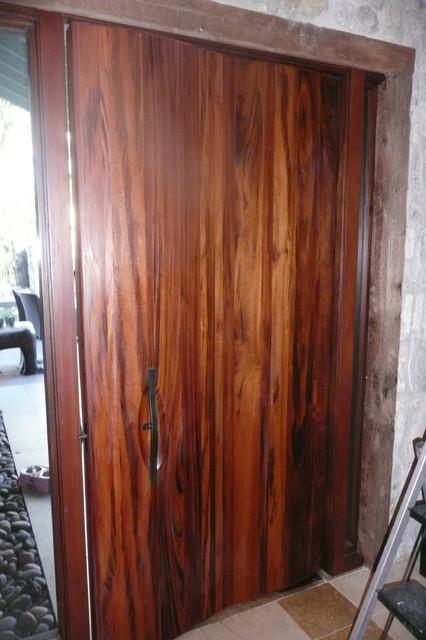 lake austin african tigerwood entry door craftsman