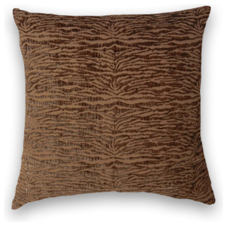 Dark Brown Throw Pillow : Dark Brown Chenille Throw, 20x20 Pillow Cover - Traditional - Decorative Pillows - by Cody ...