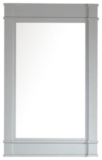 Madison Single Mirror Dove Gray Beach Style Bathroom
