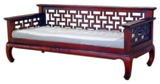 Lotus Oriental Style Mahogany Day Bed Asian Daybeds Yorkshire