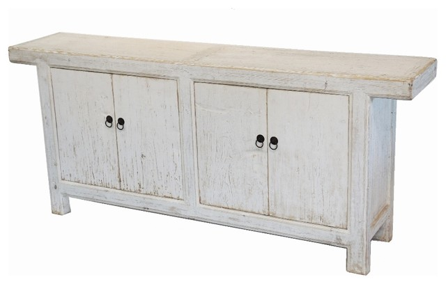 Reclaimed Wood White Sideboard Buffet Media Cabinet - Farmhouse - Buffets And Sideboards - by ...