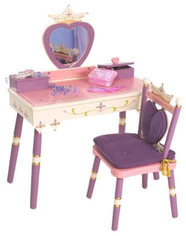 Princess Vanity Table Chair Set Modern Bathroom Sinks By Rosenberry Rooms