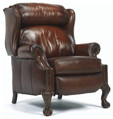 Wing back leather recliner for Wing back recliner chair