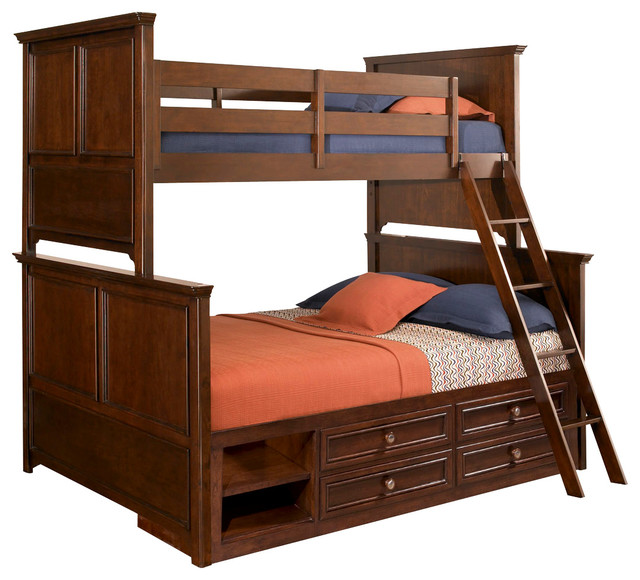 Lea Elite Covington Twin over Full Bunk Bed with Storage