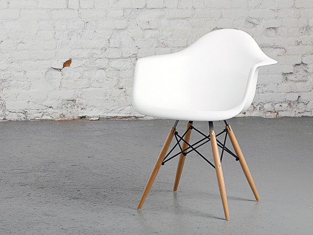 Eames daw chair replica r tro chaise de salle manger for Fauteuil eames imitation