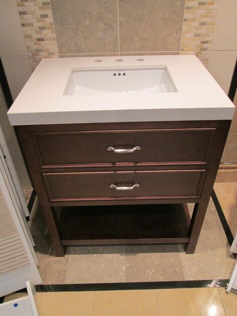 Wonderful High Tank Toilet Beach Style New York With Wooden Bathroom Vanities