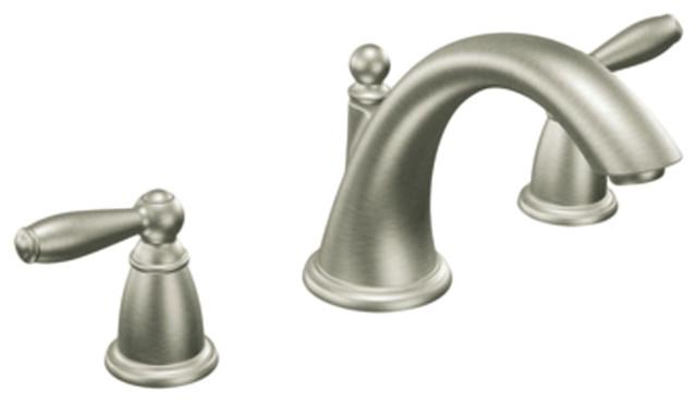 moen t4943bn brushed nickel garden tub trim 8 16 two On moen brantford two handle brushed nickel bathroom faucet