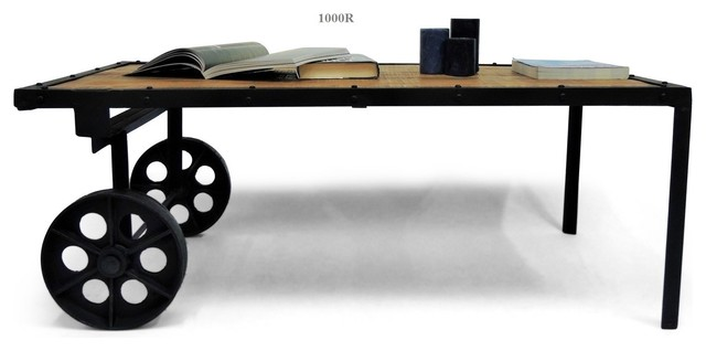 Table basse collection rustique industrial coffee - Table basse manguier ...