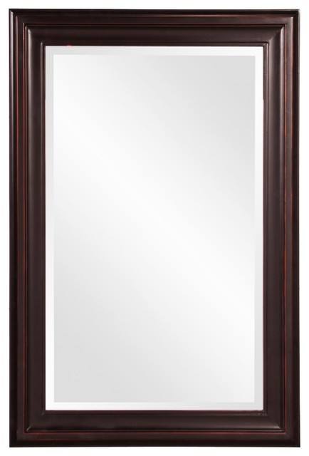 Howard Elliott George Oil Rubbed Bronze 24 X 36 Mirror Traditional Bathroom Mirrors By