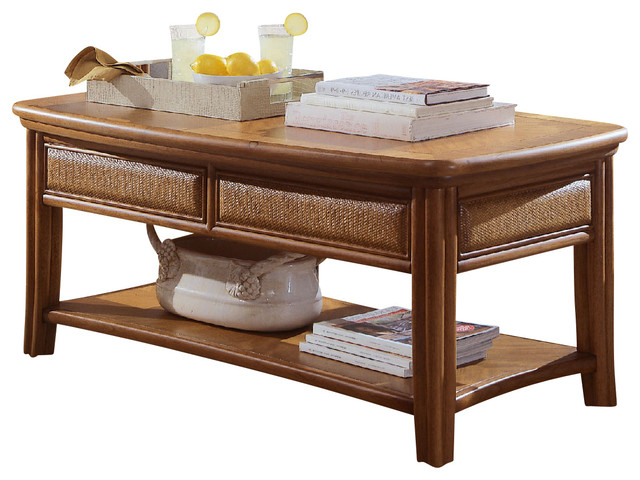 American Drew Antigua Cocktail Table In Toasted Almond Traditional Coffee Tables By Beyond