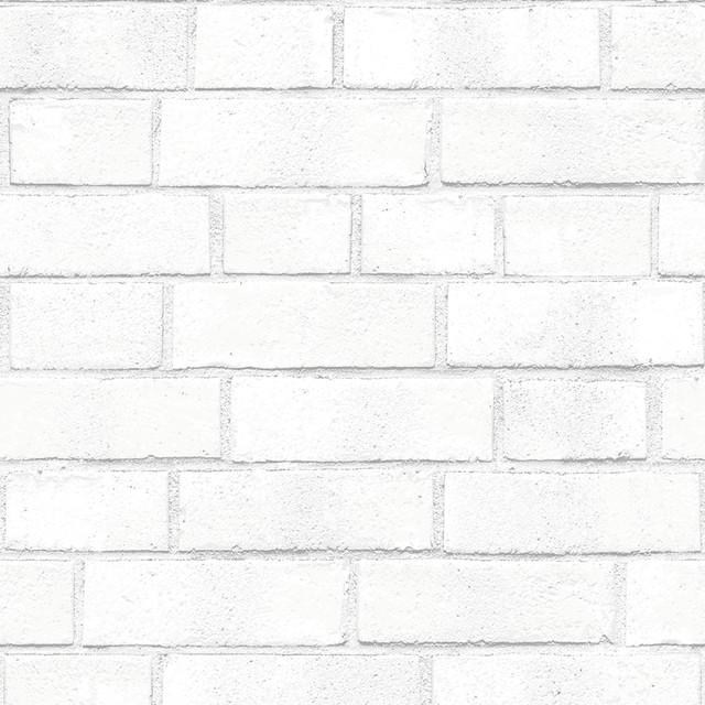 Brick self adhesive removable textured wallpaper white 8 for White adhesive wallpaper