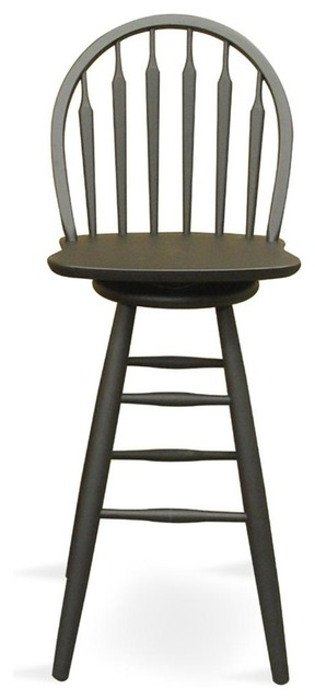 Windsor Arrowback Swivel Stool Contemporary Bar Stools