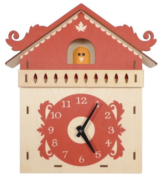 Art Wall Wooden Clock Cuckoo Contemporary Clocks By