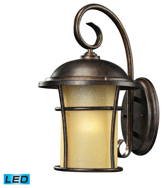 Landscape Lights Vista: Elk Lighting 45035/1-LED Bolla Vista Outdoor Wall Light