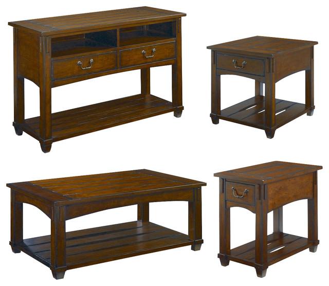 Hammary Tacoma 4-Piece Rectangular Coffee Table Set