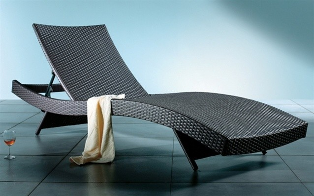 Azih Contemporary Chaise Lounge Contemporary Outdoor