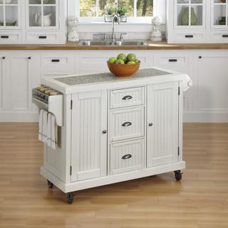 Nantucket distressed kitchen cart contemporary kitchen islands kitchen trolleys by - Overstock kitchen islands ...