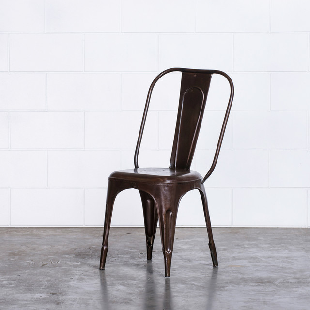 FRANKIE CAFE DINING CHAIRS BRONZE Industrial