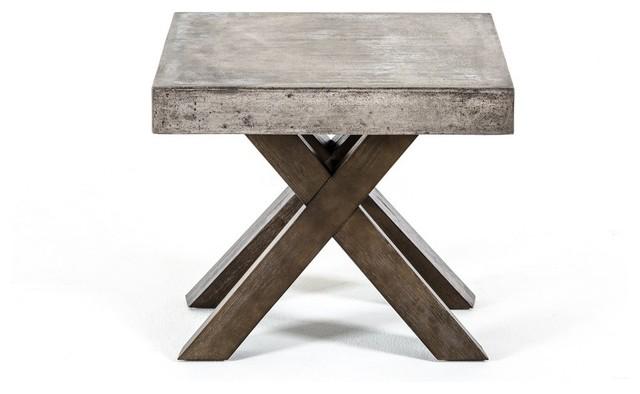 Modrest Urban Concrete Square End Table Skandinavisk Sidobord& avlastningsbord av Vig