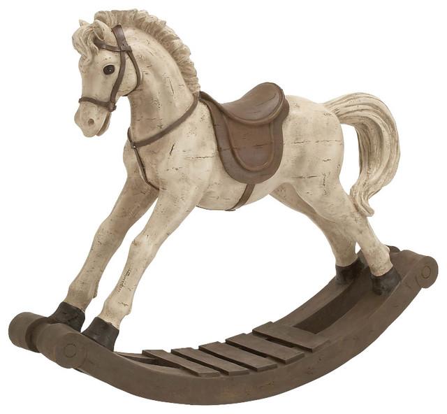 Traditional Style The Lifelike Polystone Rocking Horse
