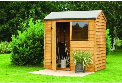 overlap reverse apex shed 8x6 traditional sheds by. Black Bedroom Furniture Sets. Home Design Ideas