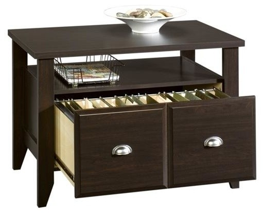 Shoal Creek Utility Stand in Jamocha Wood Fin - Contemporary - Filing Cabinets