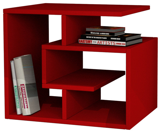 Labirent coffee table red contemporary coffee tables for Red modern coffee table