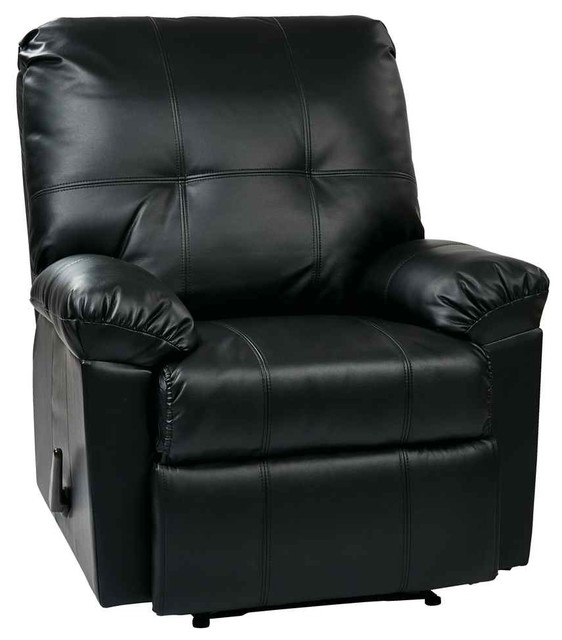 Upholstered Recliner In Black
