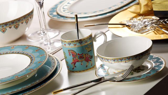 Villeroy boch samarkand aquamarin dinnerware contemporain vaisselle de table new york - Vaisselle villeroy et boch ...