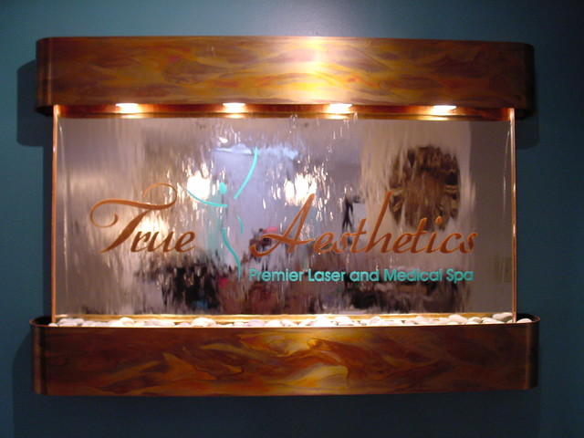 Logo Wall Water Fountain For Spa Contemporary Indoor