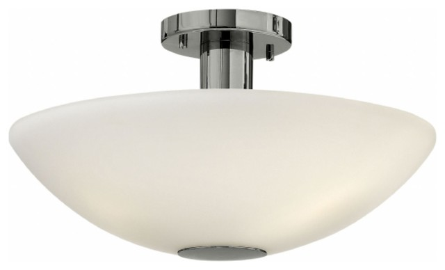 Hinkley lighting modern contemporary semi flush mount for Semi flush mount lighting modern