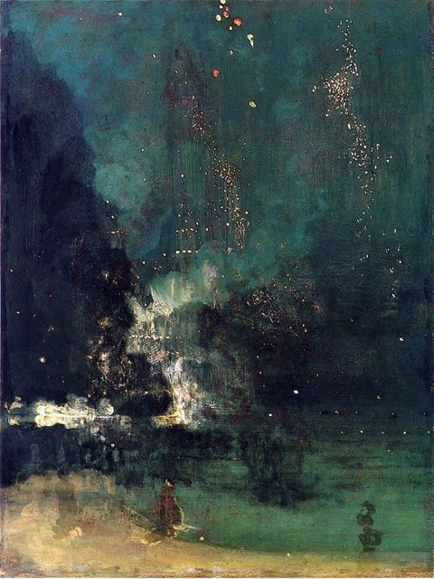 James mcneill whistler nocturne in black and gold print