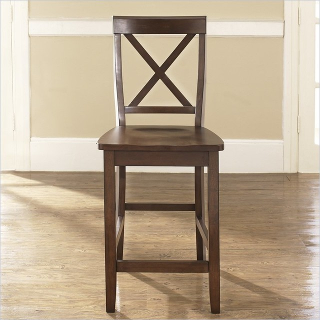 Crosley Furniture Counter Height X Back Bar Stool In