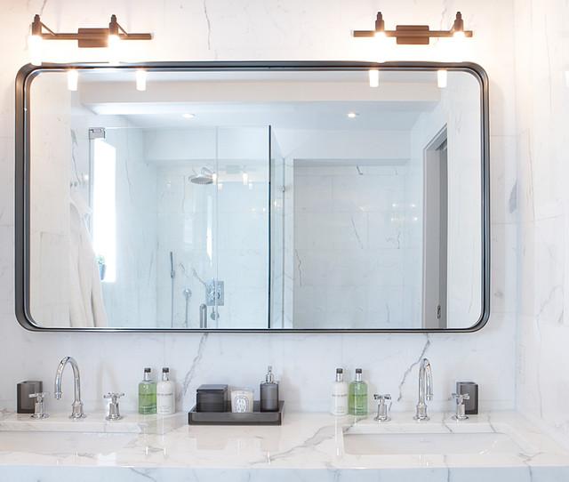 Custom Made Bathroom Mirror Modern Bathroom Mirrors New York By Aguirre Design