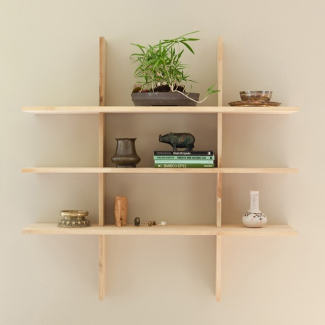 Grid Locking Shelves contemporary-display-and-wall-shelves