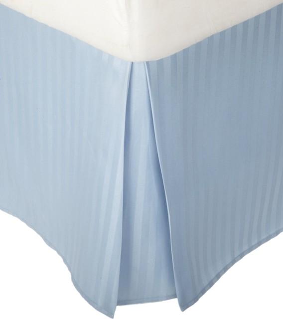 microfiber 1500 series pleated bed skirt stripe