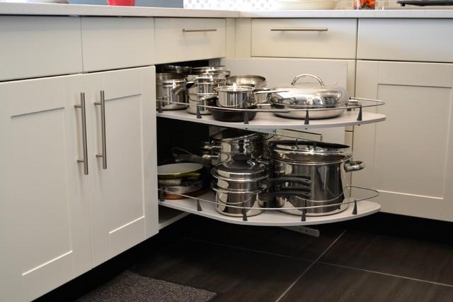 Grimslov (IKEA) white and grey kitchens - Contemporary - Kitchen ...