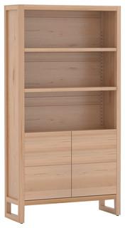 biblioth que naturelle bois massif 190 cm contemporain biblioth que other metro par la. Black Bedroom Furniture Sets. Home Design Ideas