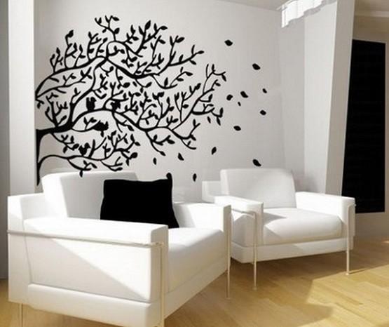 Tree Wall Sticker To Decor Living Room Modern Wallpaper