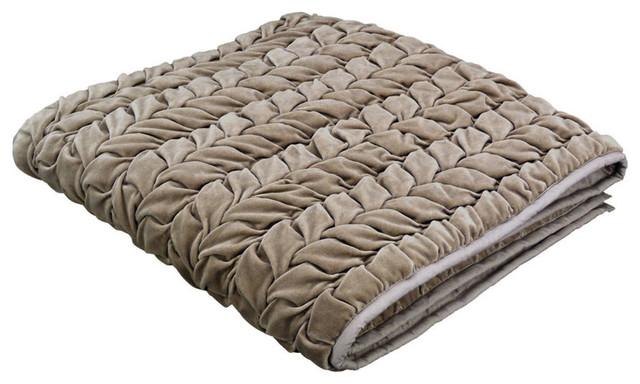 Chemin de lit gris pis 190x50 moderne couvre lit et for Parure de lit moderne