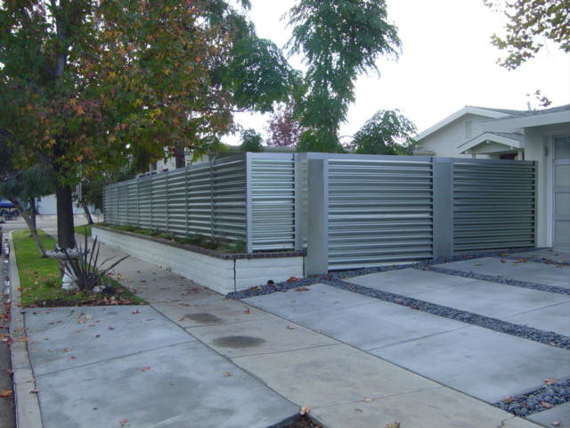 Corregated Steel Fence Modern Orange County By Mark