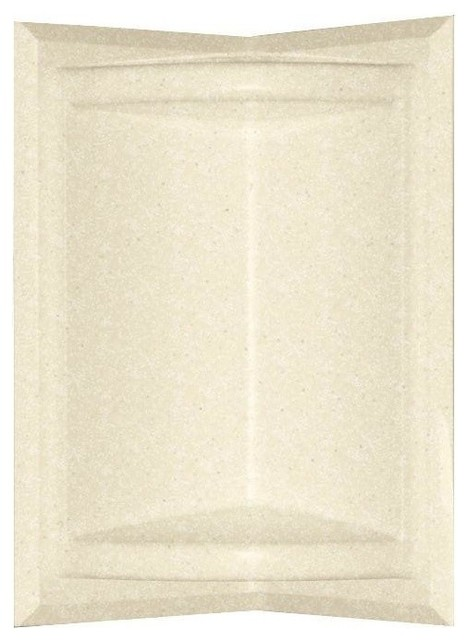 Corner-Mount Solid Surface Soap Dish, Pebble - Traditional - Shower Stalls And Kits - by ...
